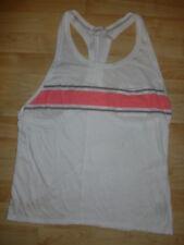 Victoria's secret M white pink pocket stretch racer-back tank-top shirt