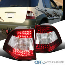 For 98-05 Mercedes Benz W163 MLClass ML320 Red Clear LED Tail Lights Brake Lamps