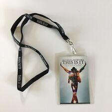 Michael Jackson This Is It Lanyard & Laminated Movie Card 2009
