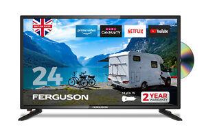 "FERGUSON 24"" INCH 12v LED TV DVD, SMART, FREEVIEW HD, WIFI, HDMi, USB CARAVAN TV"