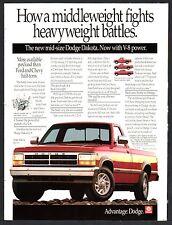 1991 DODGE Dakota Red Pickup Truck Photo AD