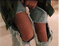 New! Women Crystal Rhinestone Fishnet Elastic Stockings Net Tights Pantyhose Lot