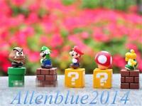 5PCS/SET New Super Mario Bros Luigi Yoshi Figures Toy Doll Gift Spielzeug 5.3CM
