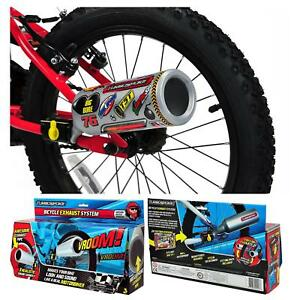 Turbospoke V2 Fahrrad Auspuff Komplettset mit 3 Motorsound Geräusche Aufkleber