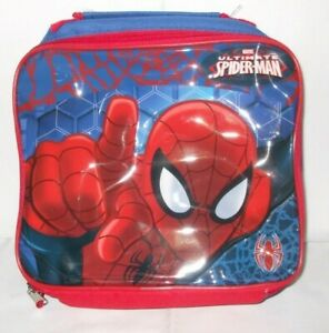 Kids Official Marvel Spiderman Character School Lunch Bag
