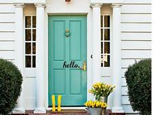 HELLO Front Door Entrance Welcome Wall Art Decal Quote Words Lettering Decor