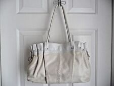 Roberta Gandolfi Purse Shoulder Bag White Snake Embosed Leather Made in Italy