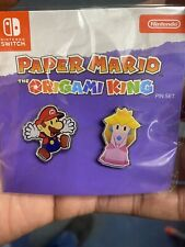 Paper Mario The Origami King Pin Set -Collectible- -Art- -Hot- -Fast- -Nintendo-