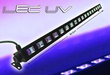 "IBIZA Light ""LED-UVBAR18"" 18x 3 Watt UV Schwarzlicht LED Leiste mit Schalter"