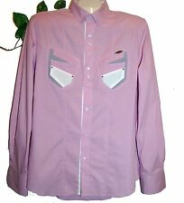 Karl Mommoo Lavander Men Button Up Italian Shirt Size 2XL NEW Retail $220.00