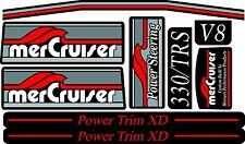 MERCRUISER THE NEW  2017 TRS ORIGINAL COLORS  W/RED RAMS STICKER SET