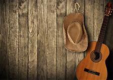 Retro Wood Board Western Cowboy Hat Vinyl Backdrop Photo Studio Background 9X6FT