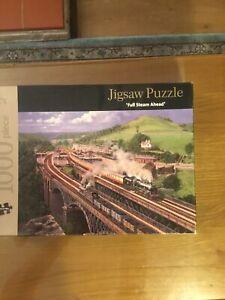 Ravensburger 1000 Piece Jigsaw Puzzle Vintage Steam Train Complete #