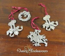 1983, 1988, & 1995 Seagull Pewter Christmas Ornaments Candles Wreath Music