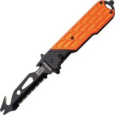 M-Tech A893OR Rescue Utility A/O Folding Knife Black/Orange Folder Overall