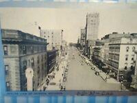 VINTAGE PHOTO POST CARD SKYLINE VIEW OF JACKSON MICHIGAN