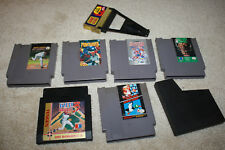 Nintendo NES Game Lot RBI 3 Blades Steel Game Genie Super Mario Tecmo Punch Out