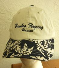 "BAMBOO FLOORING baseball hat Hawaii humor ""Try Grass"" eco-friendly Honolulu cap"