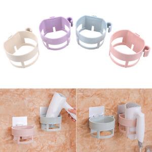 Wall-mounted Hair Dryer Holder ABS Bathroom Shelf Storage Hairdryer Holder Rack
