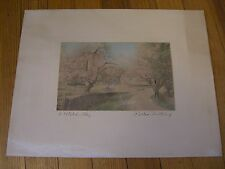 """Vintage WALLACE NUTTING SIGNED ORIGINAL - """"A Petaled Way"""" Print"""