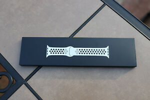 Genuine Apple Watch Nike Sport Band 38/40mm Pure Platinum/Black- M/L Strap Only