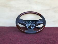 LEXUS 07-11 GS350 STEERING WHEEL LEATHER WOOD GRAIN WITH SWITCHES OEM