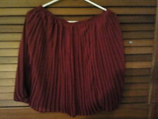 Woman's skirt fully lined blood red accordion pleat Size 10