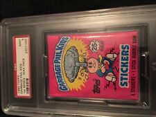 1985 TOPPS GARBAGE PAIL KIDS SERIES 1 WAX PACK PSA 9 MINT WORLD'S HIGHEST GRADE