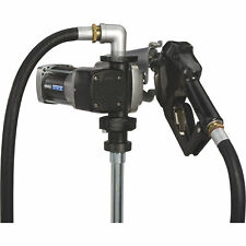Roughneck Hd Fuel Transfer Pump 15 Gpm 120v Ac Auto Nozzle Gasoline Compatible