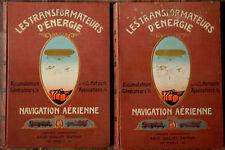 Aviation-Technique : LES TRANSFORMATEURS D'ENERGIE, Livre à Système-1910.+ Atlas