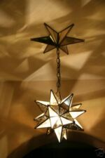 """Moravian 11.5""""  mirror/glass star  WITH star canopy"""