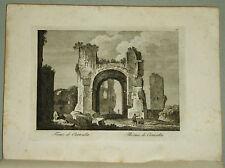 1818.Inc/Rame.ROMA:TERME DI CARACALLA-THERMES D CARACALLA.par NIBBY-Parboni-Ruga