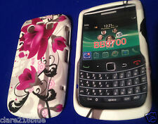 Blackberry Bold BB9700 Pink Fushia Flower Gel Mobile Phone Case Cover Stocking