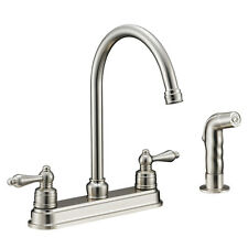 Designers Impressions Satin Nickel Kitchen Faucet with Sprayer #610071