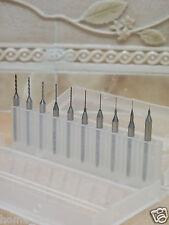 10 pcs New Micro PCB CNC Carbide drill drills bits ( 0.1mm to 1mm ) fits Dremel