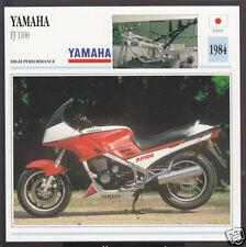 1984 Yamaha FJ 1100cc (1097cc) Japan Bike Motorcycle Photo Spec Info Stat Card