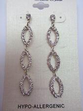 Dangle Earrings Crystal Loop