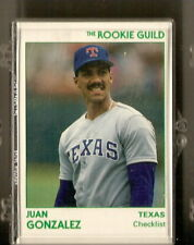 Juan Gonzalez 1991 Star Company Texas Rangers Rookie Guild 11-Card Baseball Set
