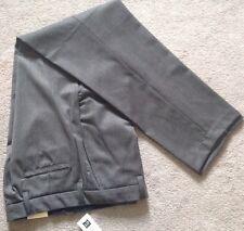 GAP Men's Classic Stretch Pants 30x32 Flat Front Grey Wool / Lycra New