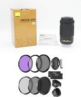 NEW.. Nikon AF-P NIKKOR 70-300mm f/4.5-6.3G ED DX Super-Telephoto + Filter kit