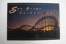 959) SAN DIEGO CALIFORNIA ~ THE BELMONT AMUSEMENT PARK ~ ROLLER COASTER ~ SUNSET
