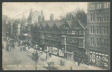Holborn London Old Houses Staple Inn Vintage Printed Postcard
