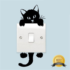 Wall Stickers Decal Home Decoration Bedroom DIY funny Cute Cat Switch Stickers