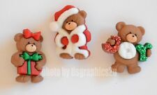 Beary Merry Christmas Holiday Buttons / Jesse James Dress It Up / Shank Back
