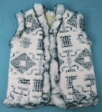 Handmade Sheep Wool Sheepskin Women's Ukrainian made Vest Jacket Coat White Grey
