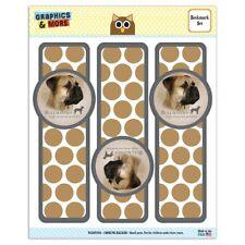 Bullmastiff Dog Breed Set of 3 Glossy Laminated Bookmarks