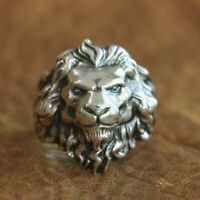 King of Lion Ring 925 Sterling Silver High Details Mens Biker Punk Ring TA109C