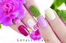 100 x Loyalty Cards Beauty Salon Manicure Nails with Storage Box & FREEPOST
