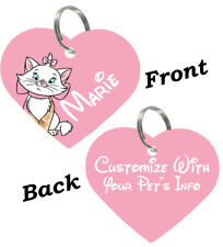 Disney Aristocats Marie Double Sided Pet Id Cat Tag Personalized For Your Pet