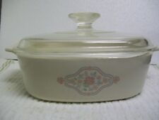 Corning Ware English Breakfast A-2-B 2 liter w/Pyrex lid Rare pattern VGC